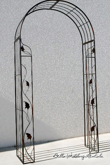 wrought iron wedding arche